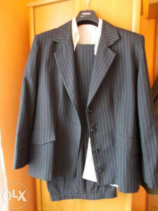 Costum office 44, pant.+sacou (camasa cadou)