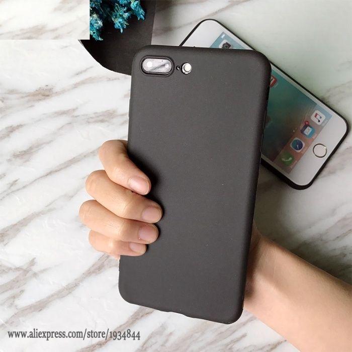 Husa Slim Din Silicon Neagra, Black - Iphone 7 7+ 8 8+