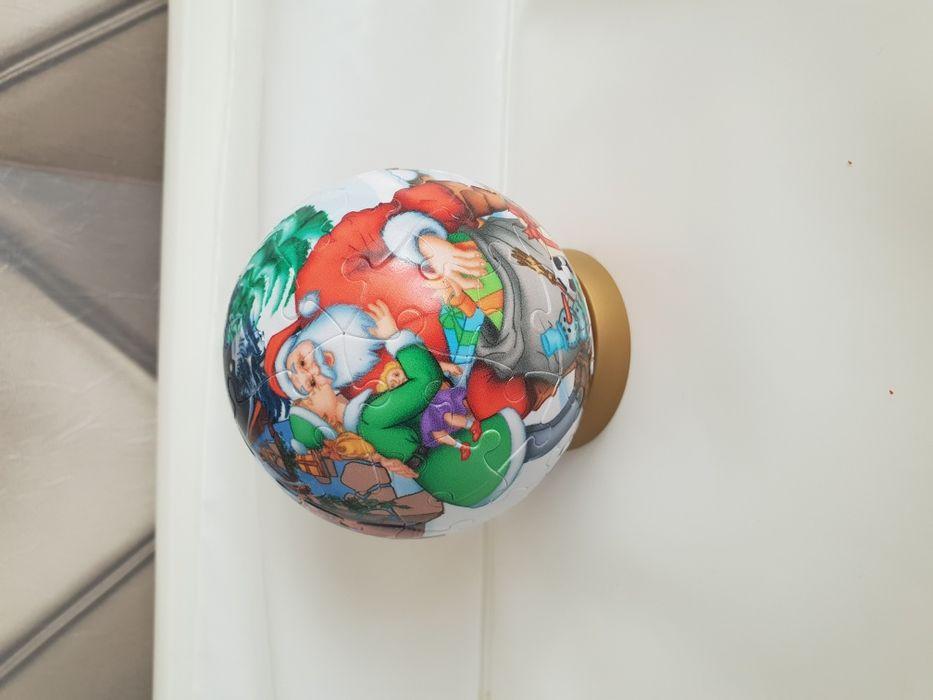 Glob, mos craciun, puzzle 3 d, 60 piese, cadou copii, jucarii, jocuri