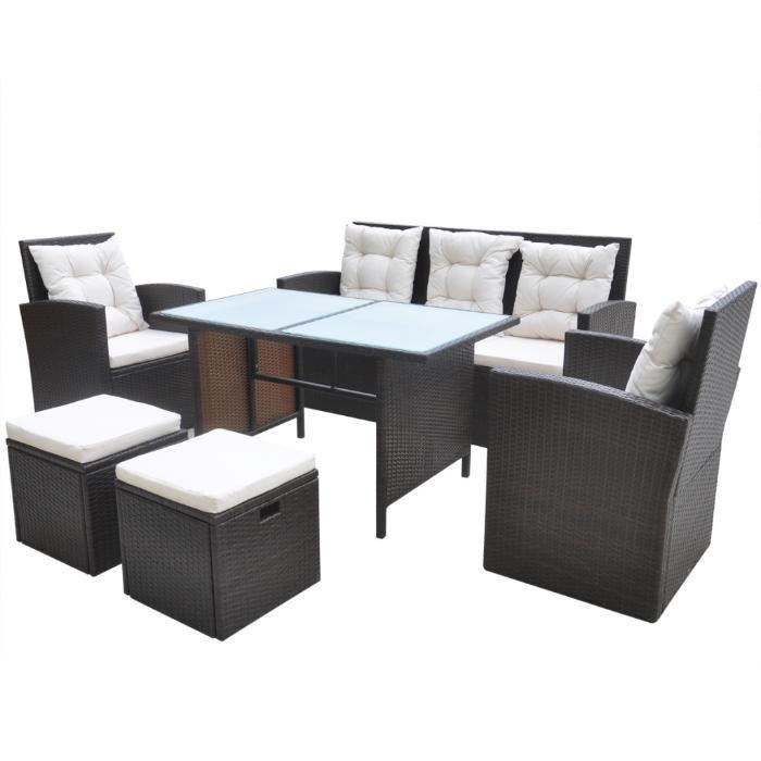 Set ratan maro ,canapea,fotolii si tabureti,configuratie moderna.