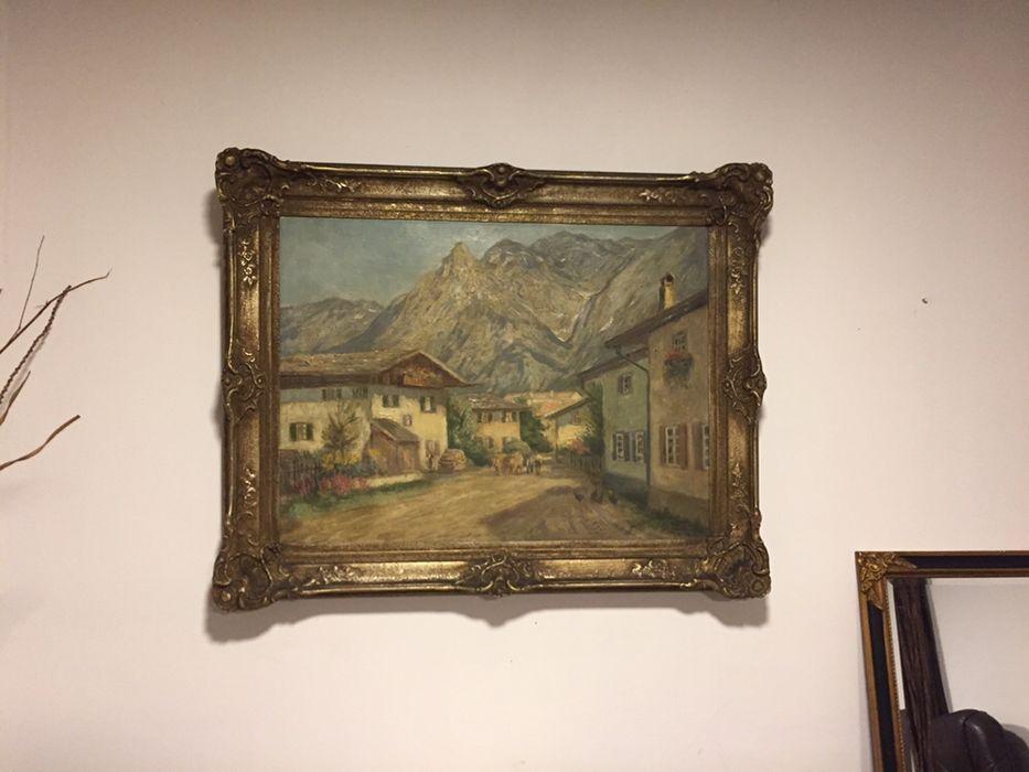 Tablou pictor german Ernst Miesler, pictura originala in ulei pe panza