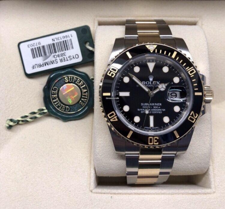 Rolex Submariner Bicolor Gold & Black, Automatic ETA, Ceramic Bezel