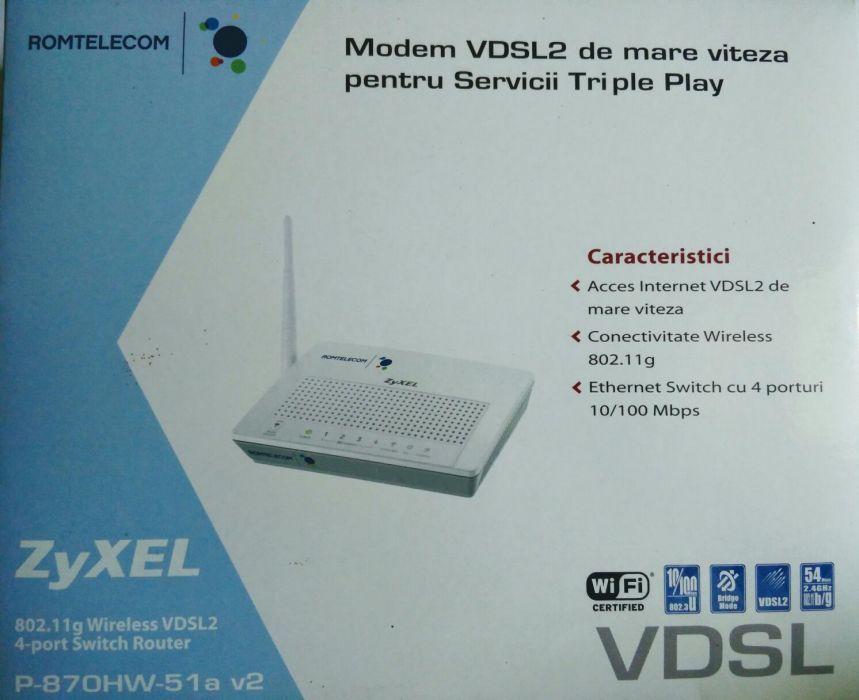 Modem Romtelecom VDSL2 ZyXEL P-870HW-51a v2