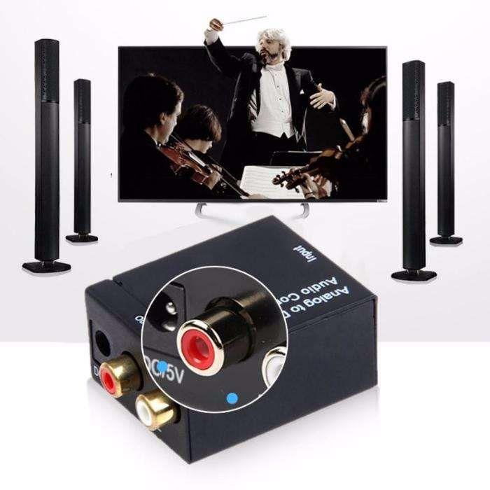 Decodor digital in analogic audio optic smart tv, ps4, xbox, media box