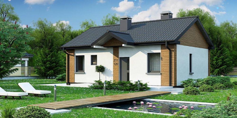 Kit casă structură lemn 74 mp
