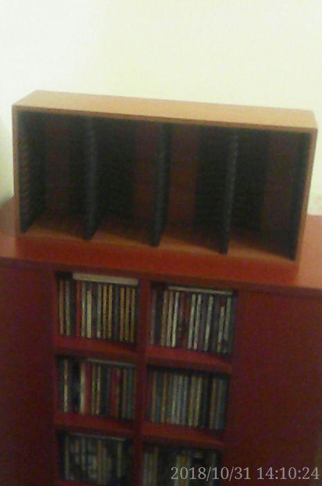 Vand stativ din lemn pentru 4x15=60 bucati cd-uri absolut nou, maro