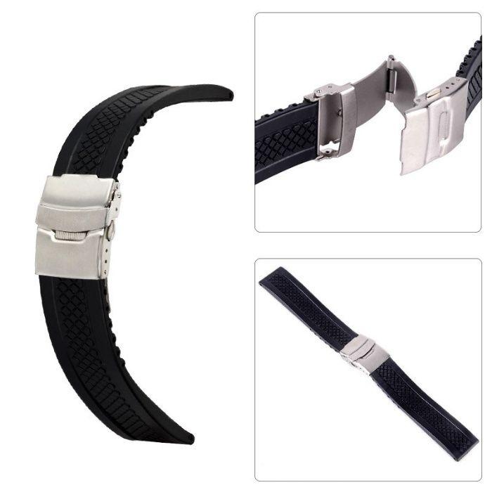 Curea silicon/cauciuc pentru ceas, KC-CC100