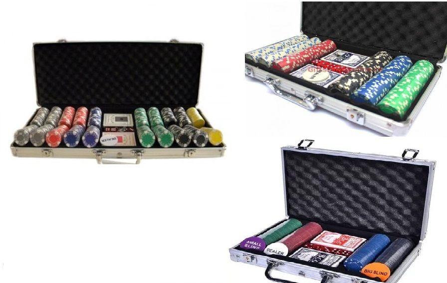 Poker servieta aluminiu 200, 300, 500 jetoane chips Sigilat