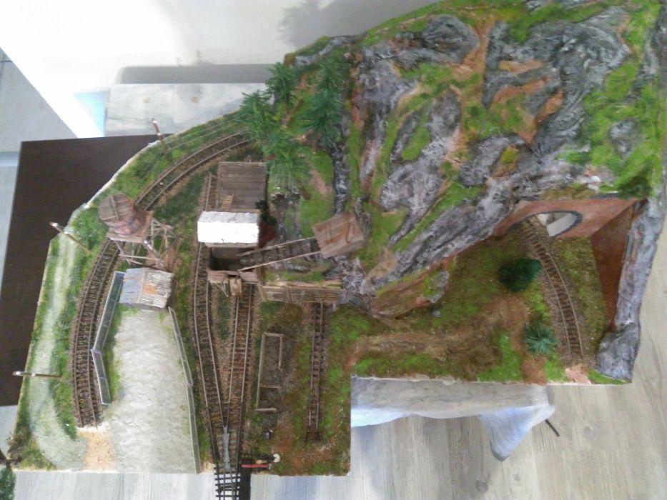 Trenulet electric.Diorama trenulet electric scara HO ,16,5 mm.