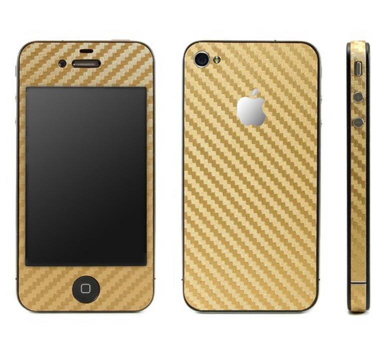 Sticker protectie CARBON SKIN iPhone 3gs 4G 4S, 5G, 5S - multe culori