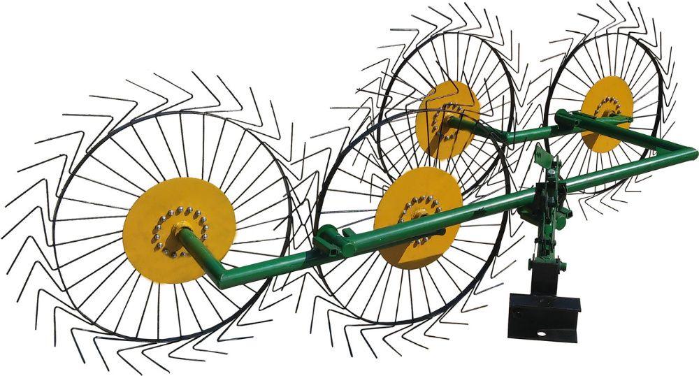 Grebla tip soare cu 4 elemente active pt motocultor /tractoras