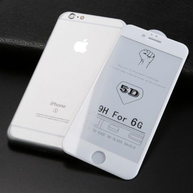 Folii pentru IPHONE, 5D ALB duritate 10H
