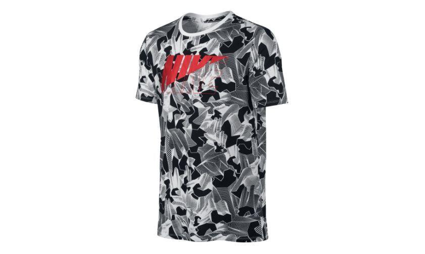 Tricou Nike Moving, Alb/Negru, XL -> NOU, SIGILAT, eticheta