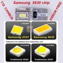 Дневни светлини T10 5W5 canbus led с 6 диода 5730 - epistar на samsung