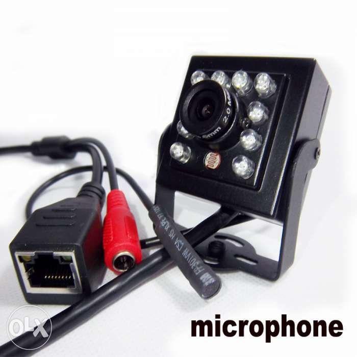 Camera video IP mini 720P IR 940nm invizibil night vision ONVIF microf