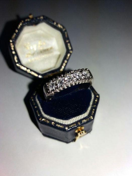 """Inel aur 18K """"Eternity"""", cu 5 diamante (0,75crt), NR17. (cod AMV 002 )"""