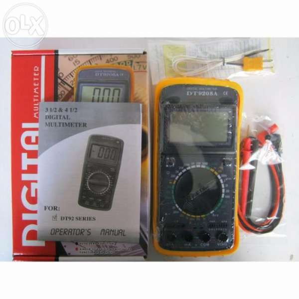 Multimeter Dt9208a мултиметър мултимер мултицет мултитестер цифров с д