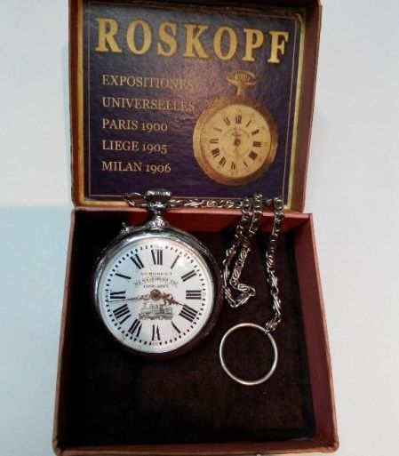 Рядък възпоменателен джобен часовник s-ma ROSKOPF 1912-1913г