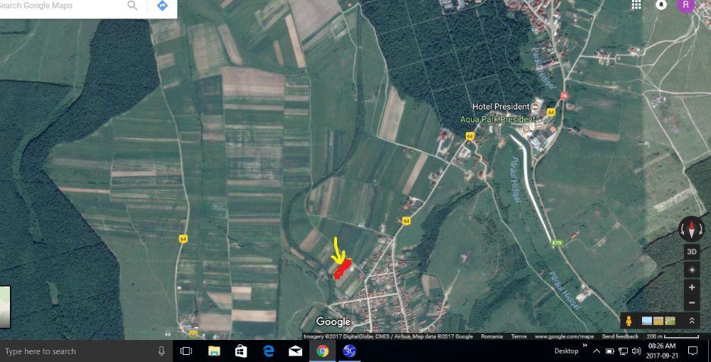 Vanzare  terenuri constructii  3311 mp Bihor, Baile Felix  - 11 EURO