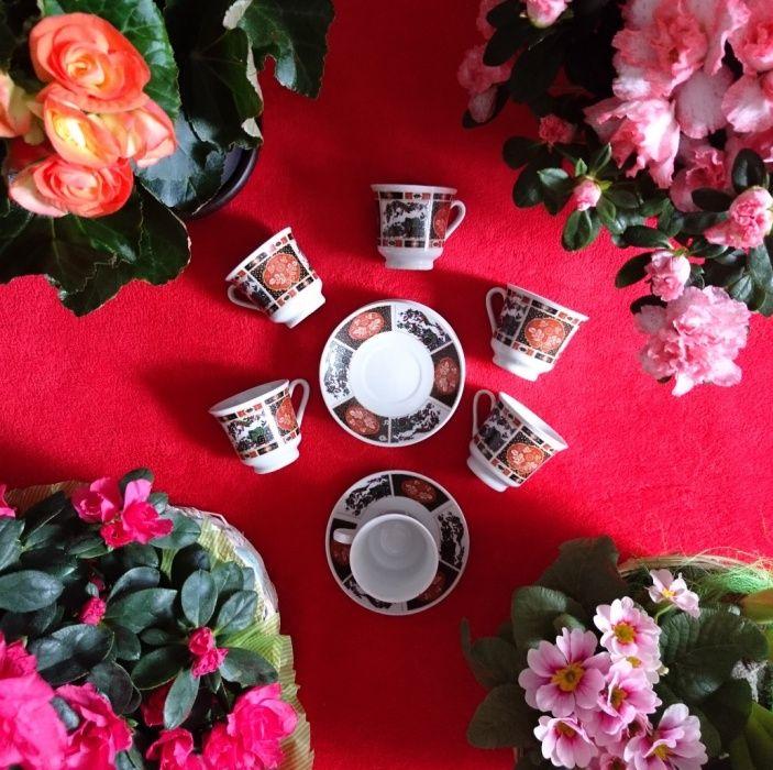 Serviciu de cafea chinezesc din porțelan