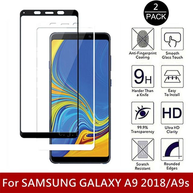 Samsung A7 A9 2018 - Pachet Husa Silicon Neagra + Folie Full Size