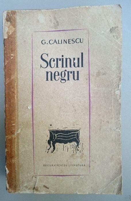 Scrinul negru de George Calinescu editie 1963 carte veche