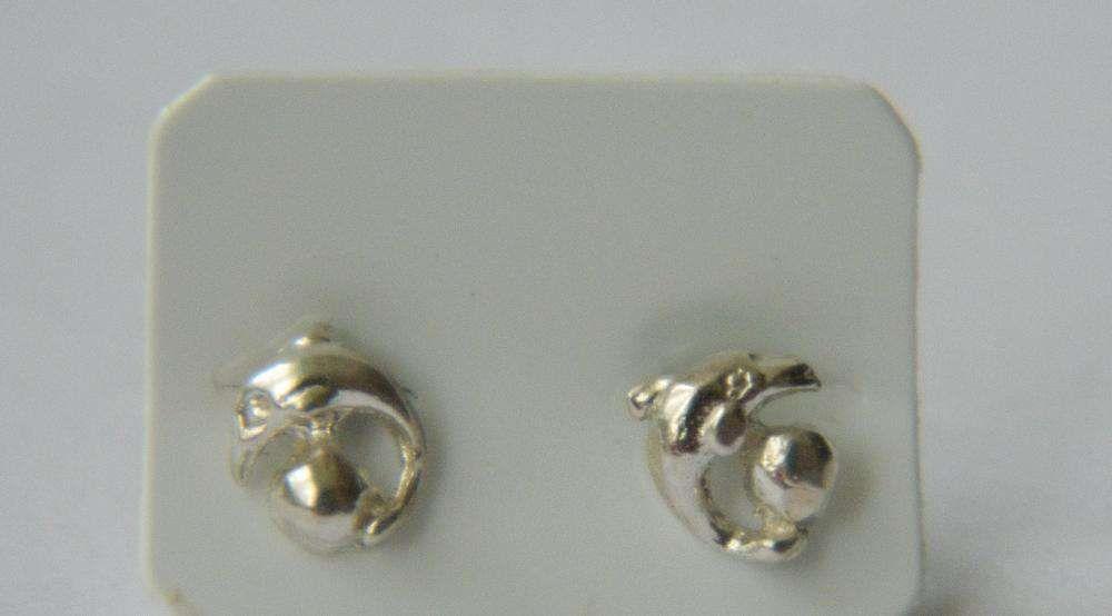 S60,cercei argint 925,noi/marcati, delfini, superbiii
