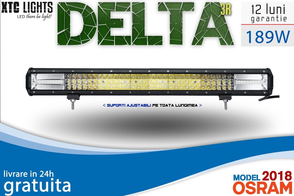 "LIVRARE GRATUITA LED Bar ""XTC Lights DELTA Series"" 189W 63cm 19845LM"