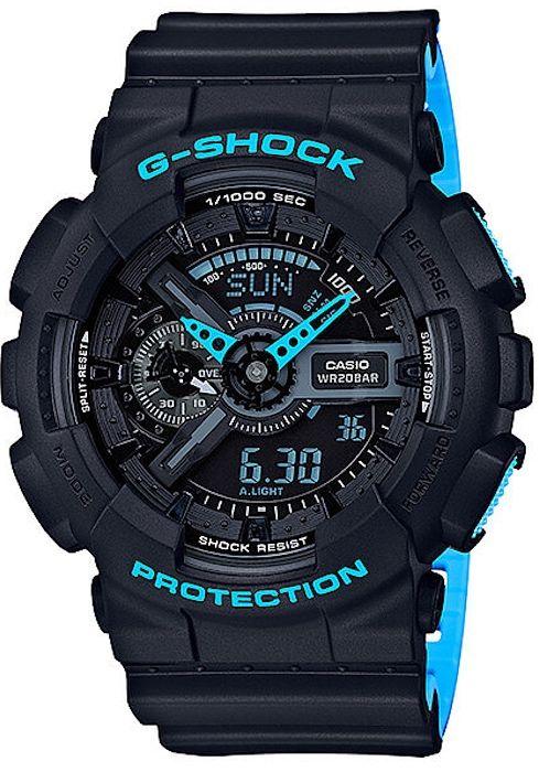 Ceas SPORT Casio G Shock ga100 LN-Layered Neon, Nou ,garantie 2 ani