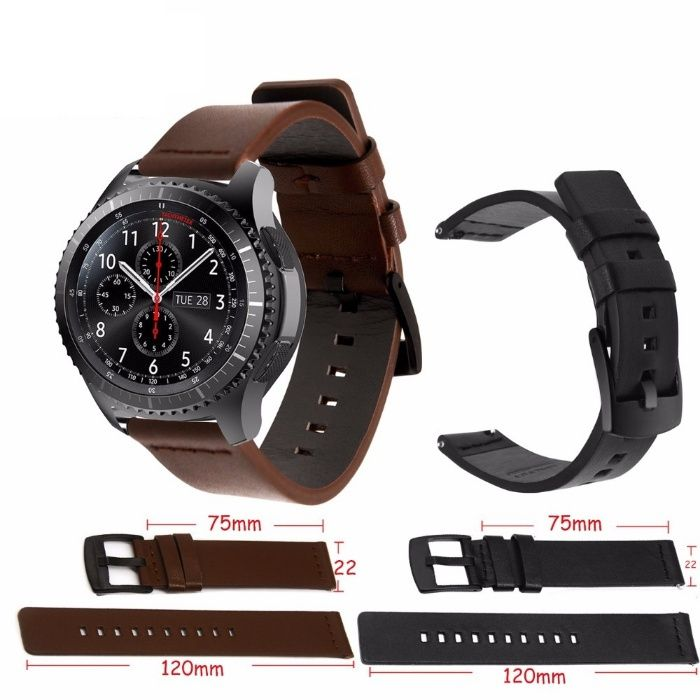 Curea de piele 22mm smartwatch Samsung Galaxy Gear S3 Classic Frontier