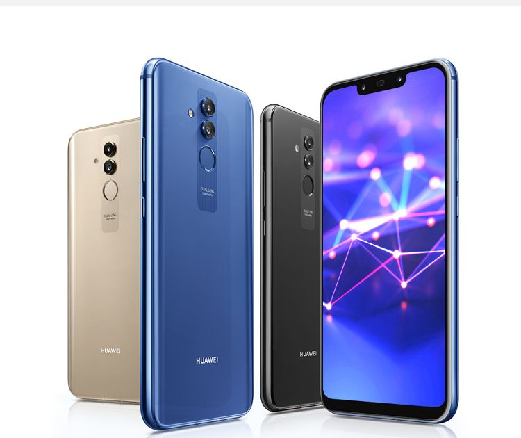 Huawei mate 20 lite de 64G azul escuro a 350,000 KZ.