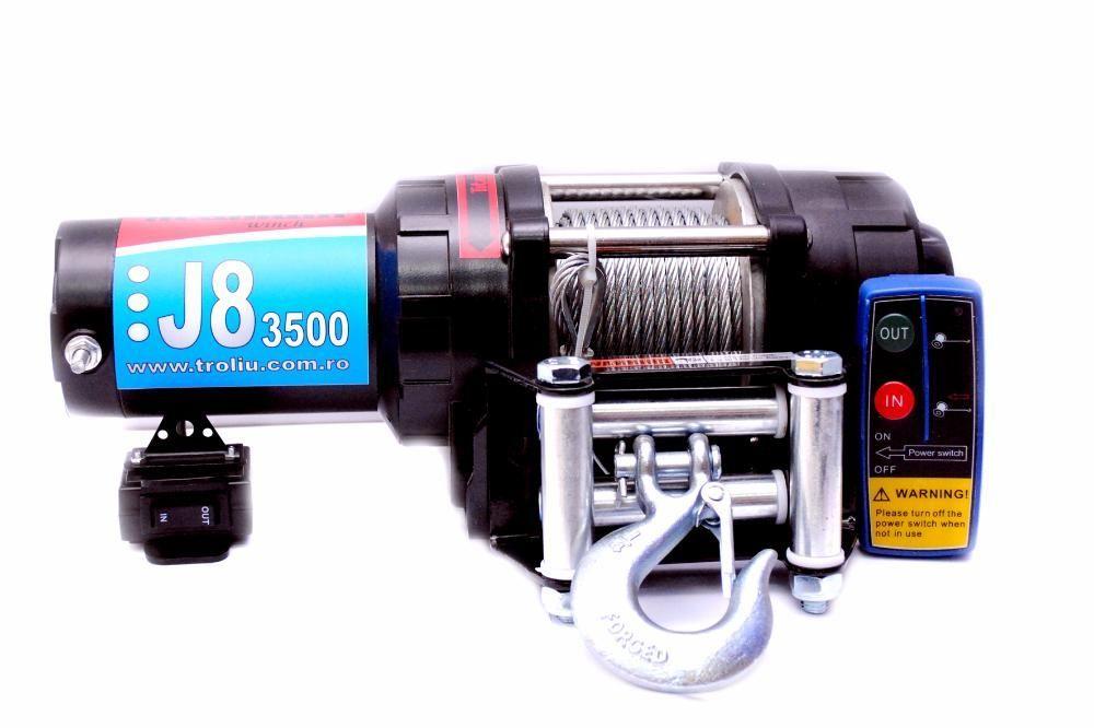 Troliul de ATV J8, 3500 LBS, sufa metalica