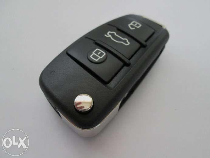 Кутийка за сгъваем ключ с 3 бутона за Audi (модели след 2004 г.)!