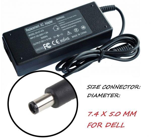 Зарядно за лаптоп 220V-90W /19.5V 7.4mm X 5.0mm Модел ZH-JDCC. За DELL