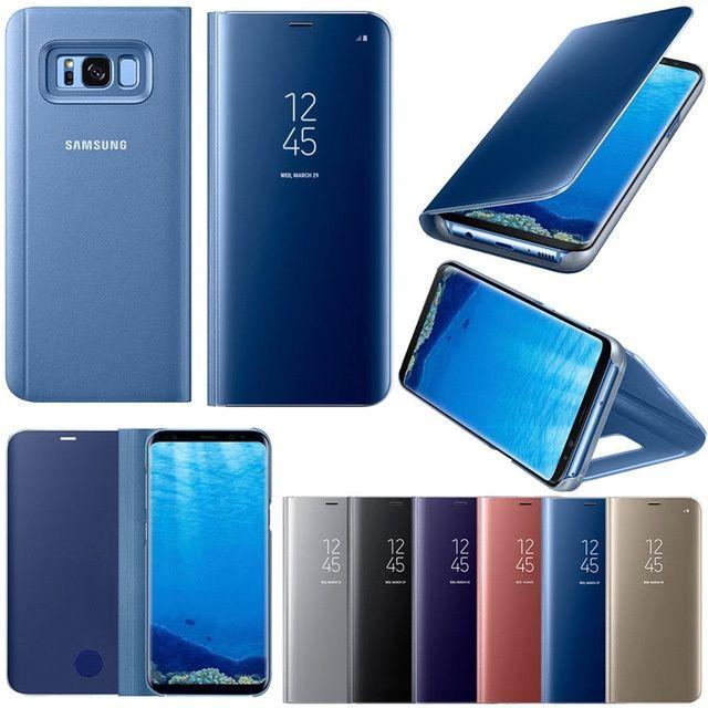 Samsung S8 S8+ S9 S9+ Flip Case Rose Negru Albastru Auriu Arg