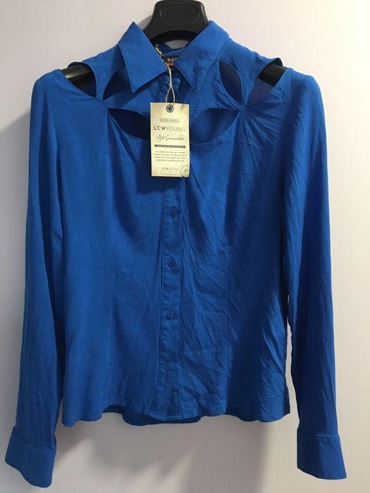 Дамска синя риза