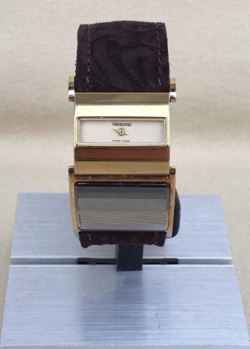 SWAROSKI Superb Ceas Vintage Dama Chic Gold Plated Rar Quartz Original