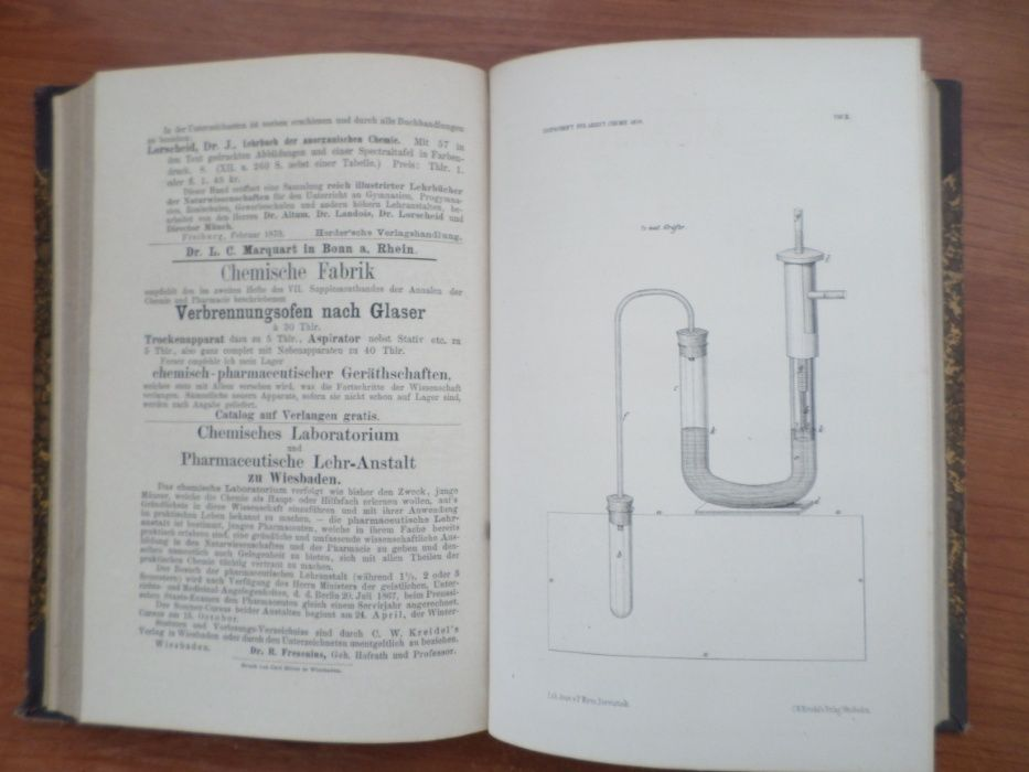 Carte veche germana : Chimie Analitica Remigius Fresenius 1870 Focsani - imagine 6