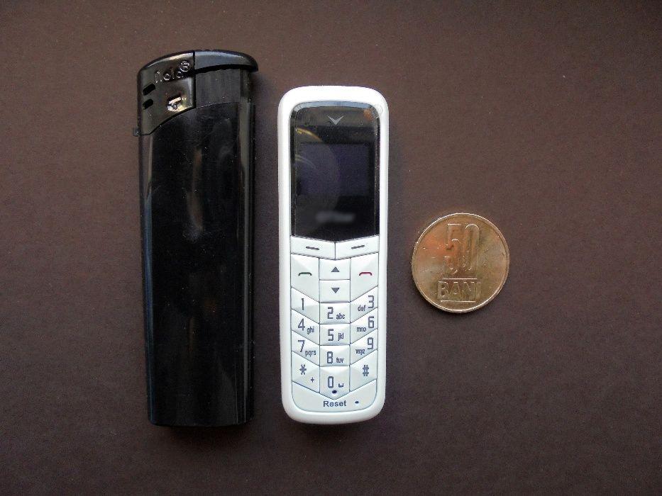 Mini Telefon(Mic) Casca Bluetooth Handsfree SIM,OLED,Alb/Negru