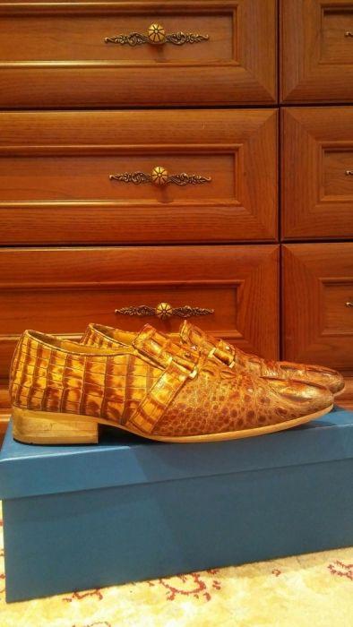 Кожаные мужские туфли. Размер 39-40.