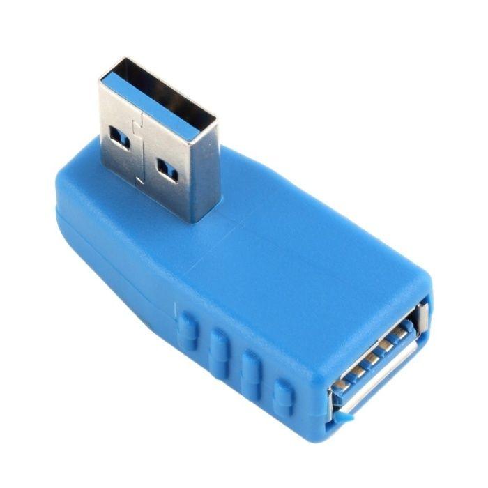 Adaptor USB 3.0 tata - mama la 90 de grade, orizontal