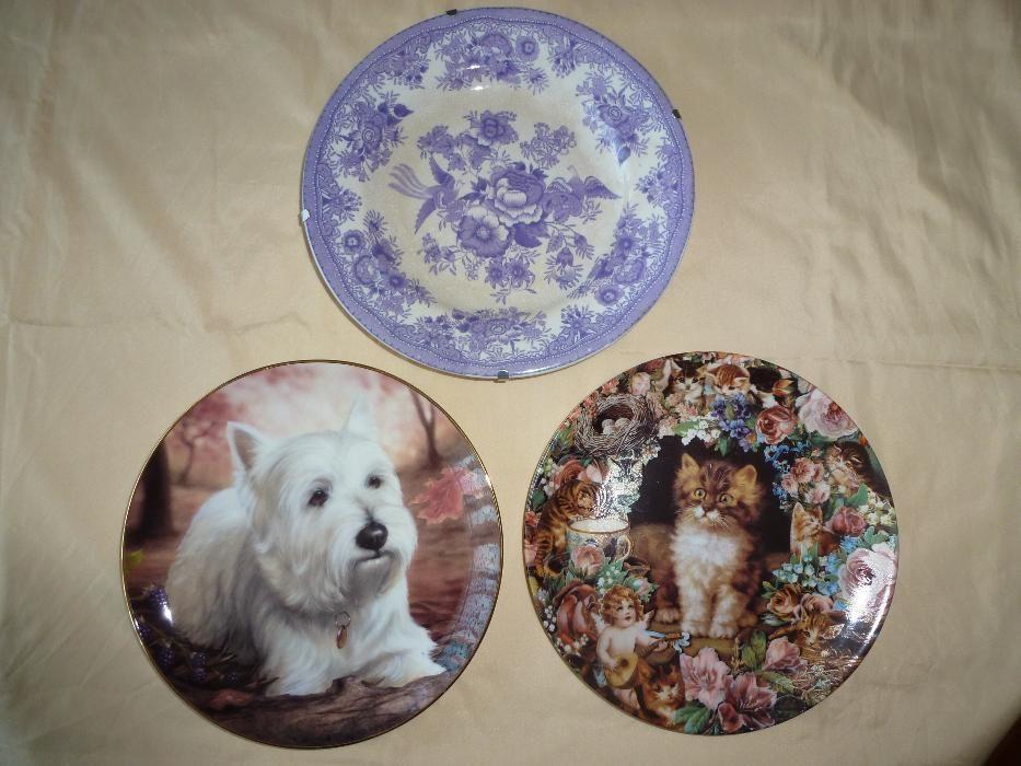 колекционерски декоративни порцеланови чинии, чаша за чай