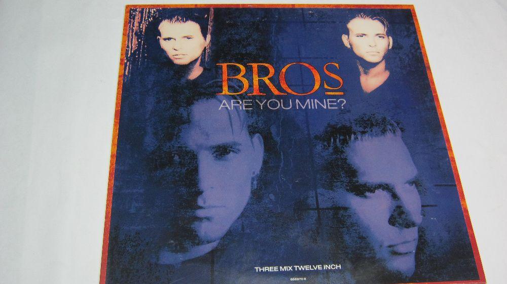 """Disc vinil,Maxi,""""Bros-Are You Mine""""45 Rpm,format mare."""