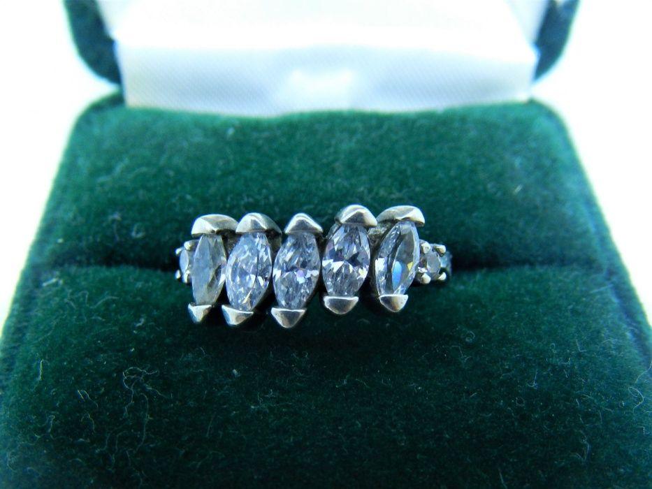 inel zirconiu, argint 925, dimensiune 17.5 mm
