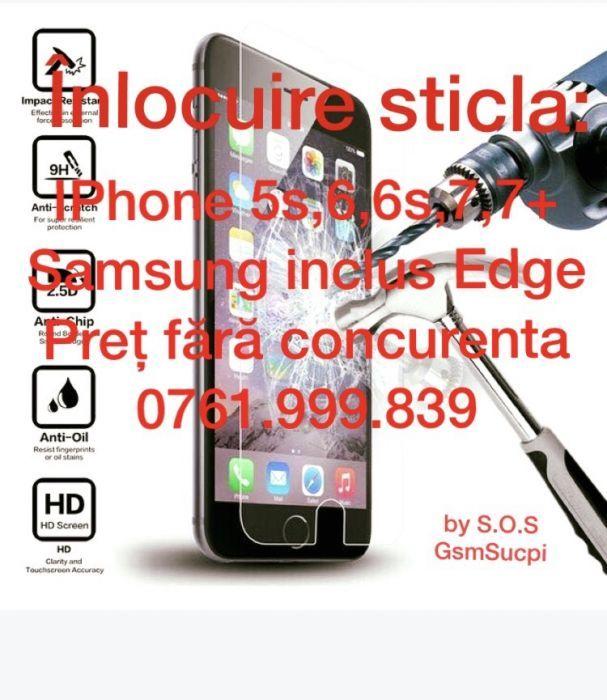 Înlocuire sticla protecție IPhone/Samsung (Inclusiv model Edge) Craiova - imagine 1