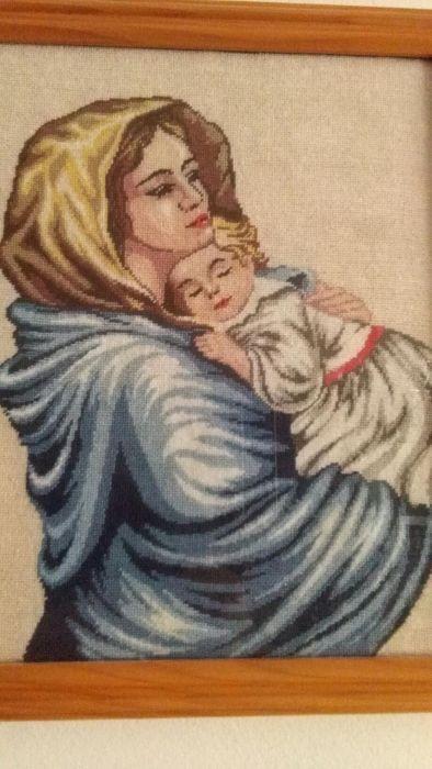Madonna,tablou cusut goblen,model nou,2015