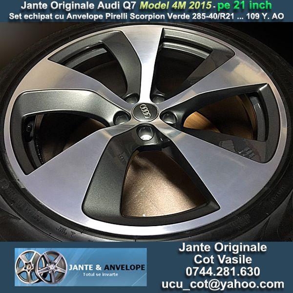 Jante Originale Audi Q7 model 4M pe 21 inch cu Anvelope Pirelli