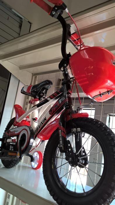 Bicicleta pentru copii YIBAIXIN 12 inchi , roti ajutatoare ,rosie