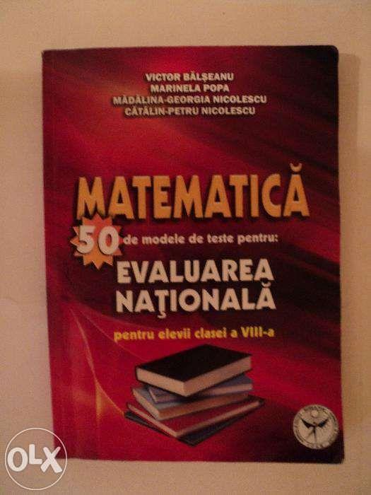 Culegere matematica50 teste cls a  VIII-a