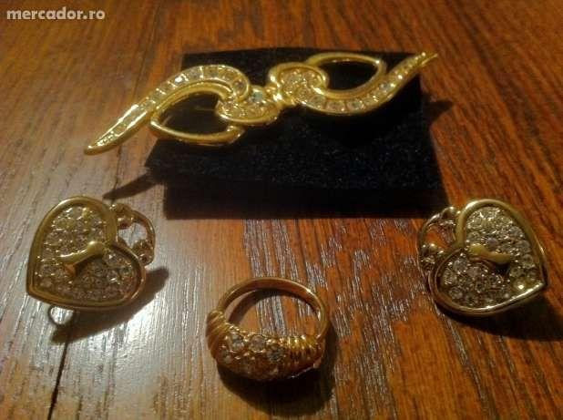 set bijuterii-brosa,cercei,inel
